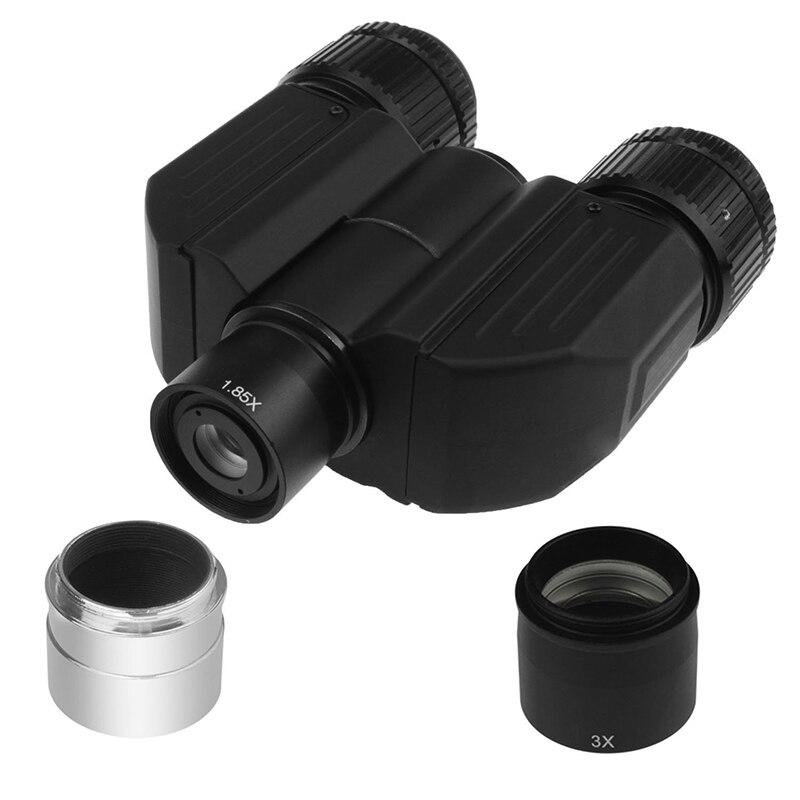 Adattatore Stereo Binoculare Viewer per Telescopi Monoculare Girare per Binocolo