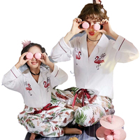 2019 New Pajama Set Mother And Daughter Clothes Set Girl 100% Cotton Flamingo Pajamas Family Matching Outfits