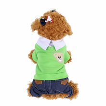 Cats Clothes Clothing Overalls Jeans Products Accessories For Pet Clothes Small Dog Coat Costume hip hop ubranka dla kota gatti(China)