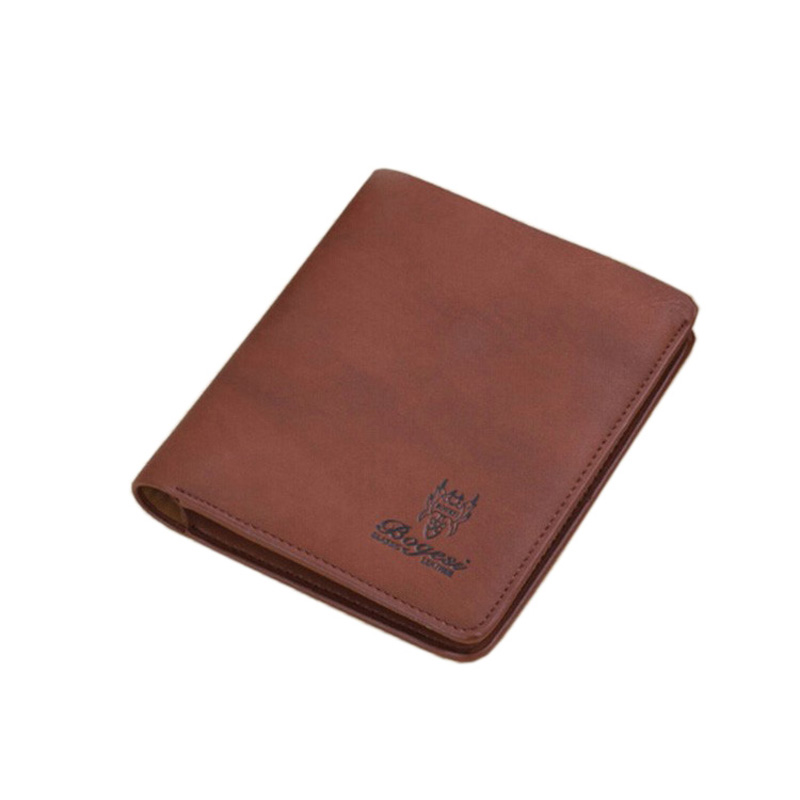 NEW Leisure Mens Brand Wallet Vintage Ultrathin  Short Men's  Leather wallet For Man Purse T1