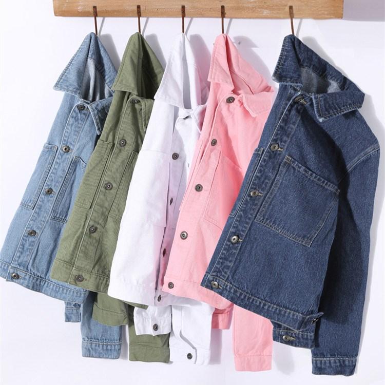 2018 Autumn Winter Women Solid Casual   Basic     Jacket   Pockets New Fashion Pocket Jeans Coats Elegant Slim Female Denim Outerwear