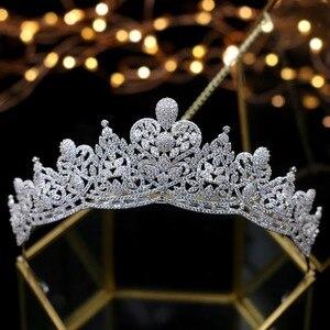 Image 5 - Asnora coroa de noiva คริสตัลงานแต่งงาน Tiaras มงกุฎเจ้าสาวเจ้าสาวอุปกรณ์เสริมผม tiara nupcial