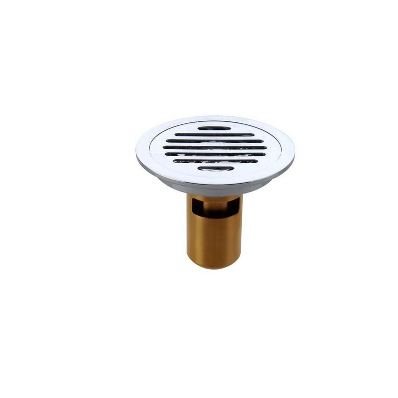 Free Shipping!! Brass Shower Room U Type Deep Water Floor Drains Deodorant Floor Drain Filter Strain Covers Chrome Plated Numerous In Variety