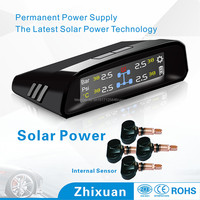 Color Lcd Display Solar Power Recharged Tire Pressure Monitoring System Tpms