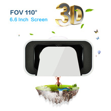 VR Box 3d Headset Virtual Reality Goggles 6.6 inch Screen Googles Cardboard 3D Glasses For Smartphone 4.5-6.6 inch New Version