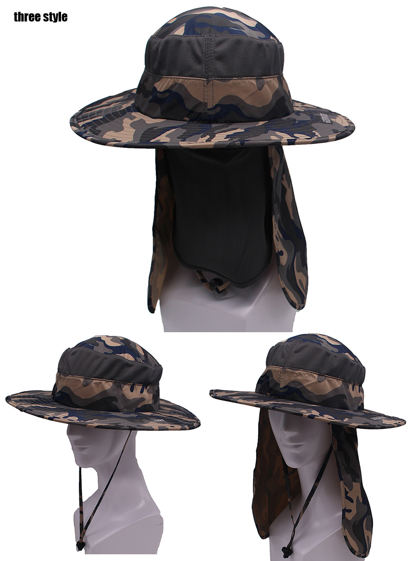 f7c7a68c427d7 2019 Wholesale Goexplore Outdoor Sport Hiking Hat UV Protection Face ...