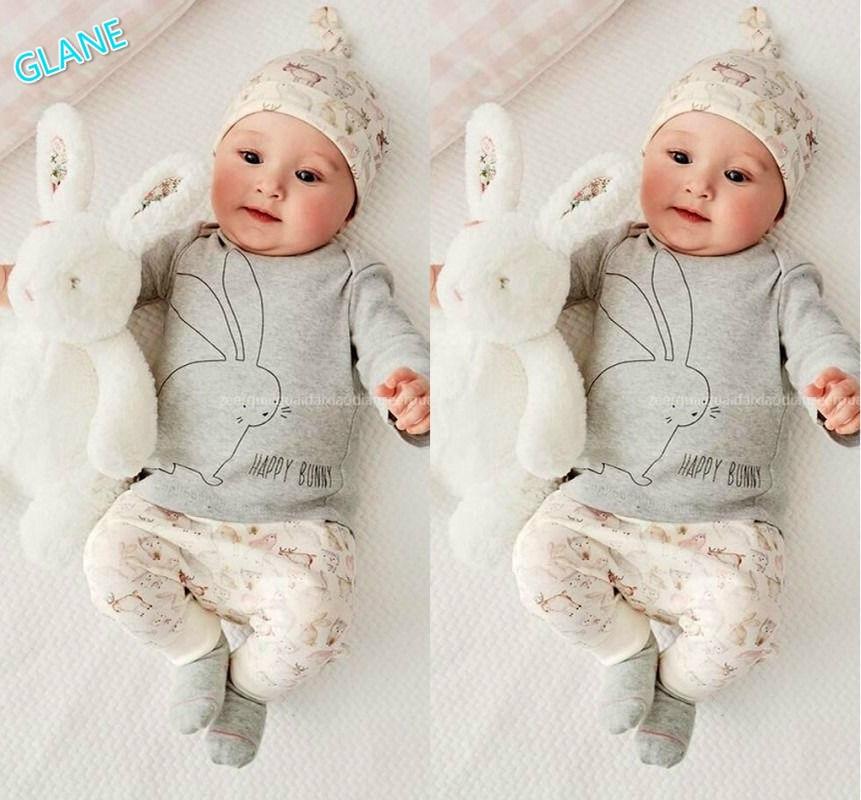 2016 3PCS Infant Baby Boy Girls Bodysuit Hat Romper T-shirt Pants Outfits Clothes Set Infant Bodysuit  For Newborns 2017 newborn mama baby boy girl clothes 3pcs long sleeve bodysuit romper pants hat xmas infant outfits sets drop shipping