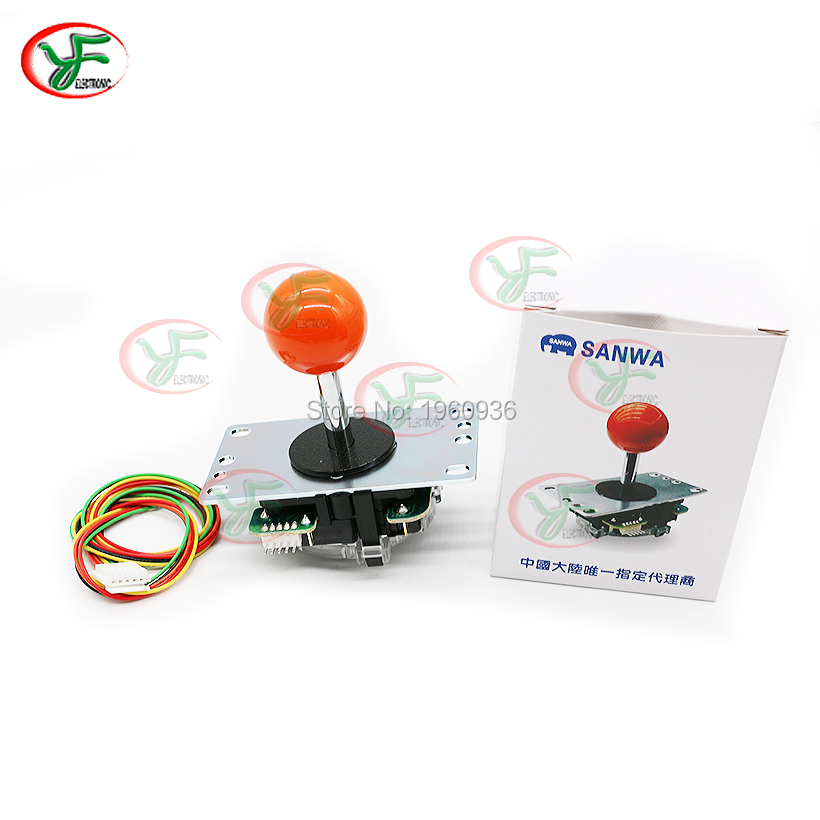 Janpan Original JLF-TP-8YT Sanwa Joystick With 5 Pin Cable for Arcade Jamma Game 12 colors available