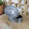 New Arrival Noble Carving Oval ring Boxes best gift for Bride Princess Jewelry case Valentine's gifts for women wholesale