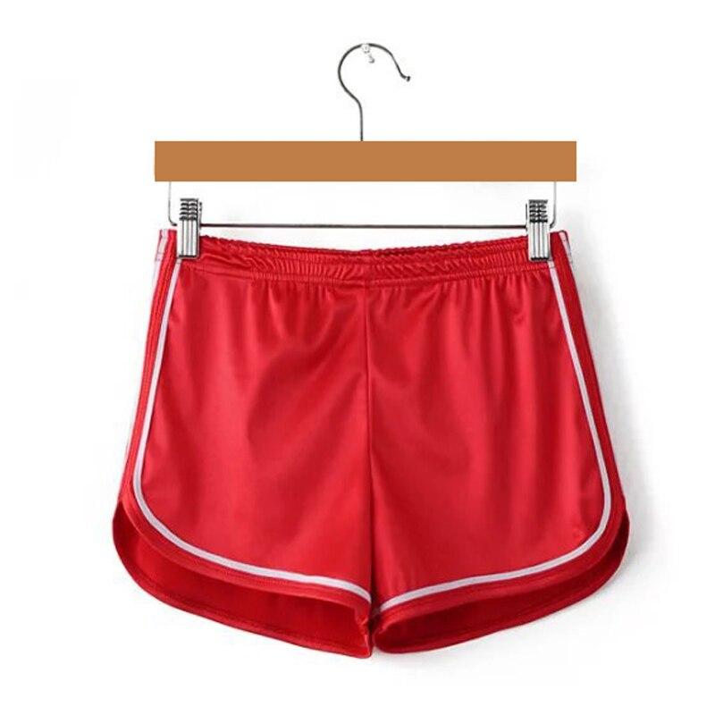 Новинка, женские шорты, летние, шелковые, тонкие, пляжные, повседневные, белые, Egde шорты, Хит - Цвет: Красный
