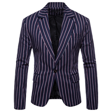 2019 new casual suit male Slim Korean version of the trend handsome British wind jacket single coat mens striped