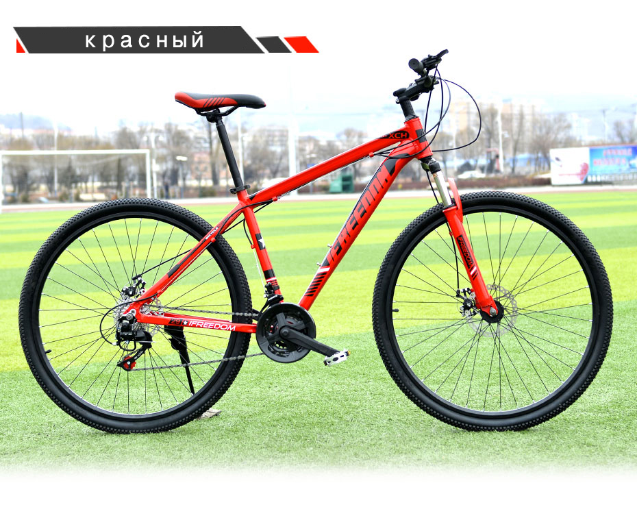 HTB1CB43tf9TBuNjy0Fcq6zeiFXab Love Freedom 21/24 Speed Aluminum Alloy Bicycle  29 Inch Mountain Bike Variable Speed Dual Disc Brakes Bike Free Deliver