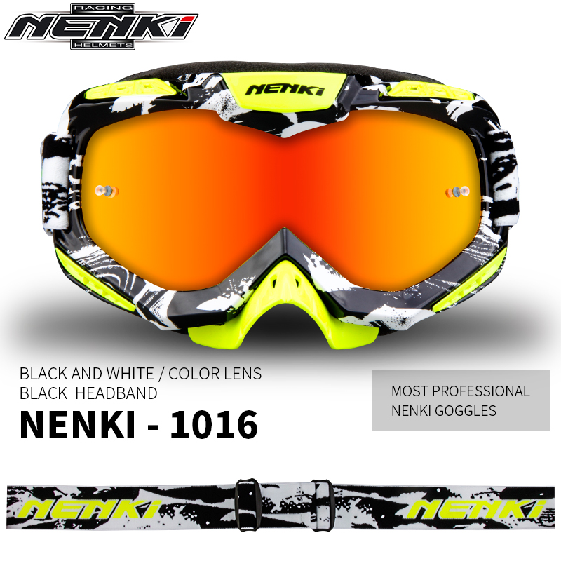 NENKI Ski Glasses Motorcycle Goggles Motocross Goggles Racing Eyewear Snowboard Glasses Colorful Lens Glasses Single Lens 1016 все цены