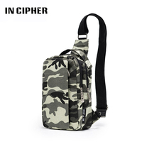 In Cipher Camouflage Chest Waist Bag For Men Female Korean Version Canvas Casual Crossbody Sling Bag