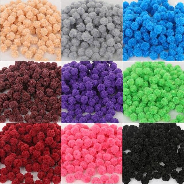 300 шт./лот 10 мм Разноцветные мягкие пушистые шар-помпон ручной работы помпоном для детей игрушки DIY рукоделия
