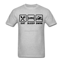 Eat sleep swim Shirt Men's Geek Custom Short Sleeve Boyfriend's XXXL Couple Tshirts