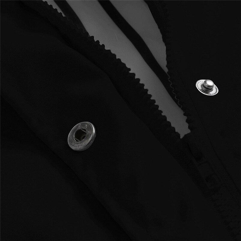 Rain Coat Women Plus Size Coat 2018 Long Sleeve Waterproof Jacket Hooded Raincoat Jacket Women Clothes Warm Coat Girl #O11 (4)