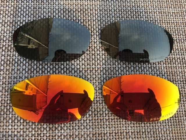 07c90f6d01 2 Pairs Fire   Bronze Polarized Replacement Lenses Lens for Monster Dog  Sunglasses