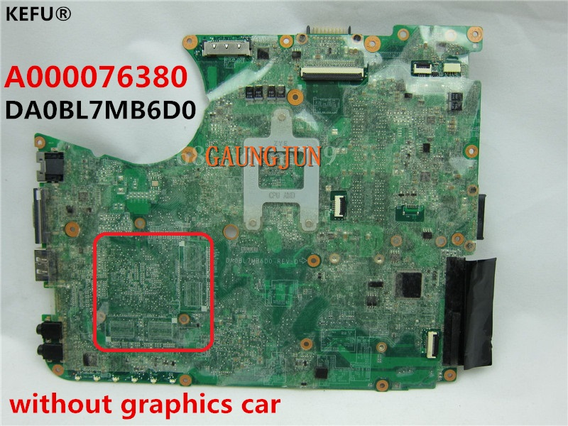 For Toshiba L655D  L650D Laptop Motherboard DA0BL7MB6D0 A000076380 100/% Tested