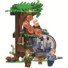 596pcs Jurassic Dinosaur World Park Carnotaurus Gyrosphere Escape Building Blocks Bricks Compatible Legoe