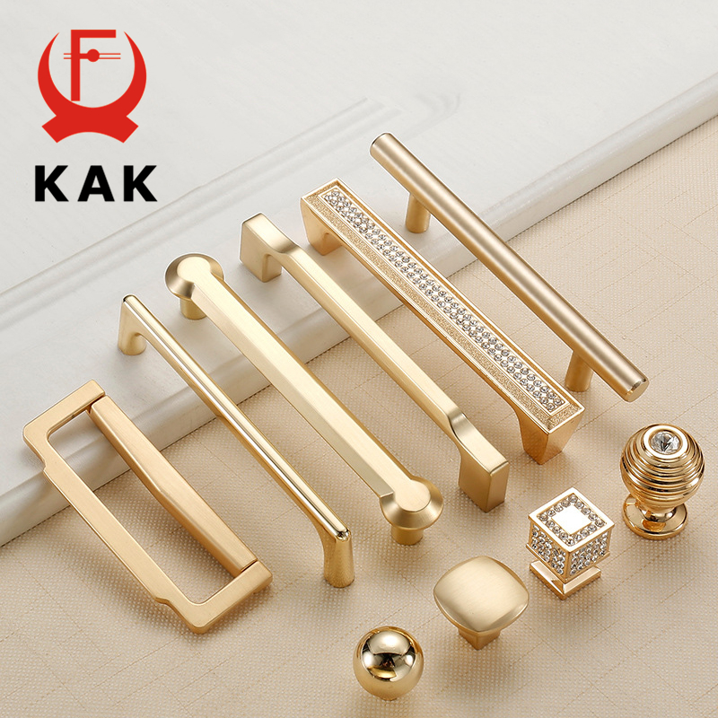 KAK Zinc Alloy Pearl Gold Cabinet Knobs Kitchen Door Handles Drawer Cupboard Door Handle Cabinet Handles for Furniture Hardware
