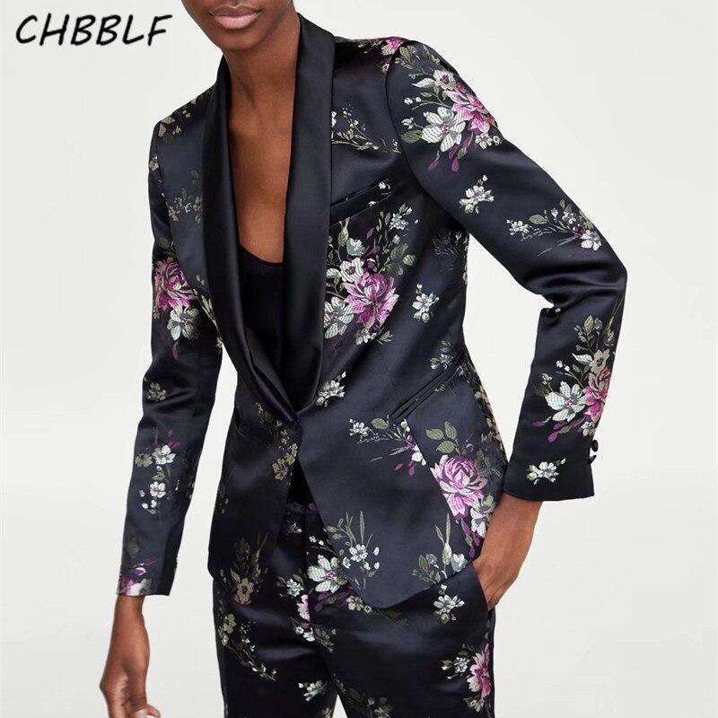 women vintage floral blazer long sleeve blouse retro outerwear blusas tops XSZ1556