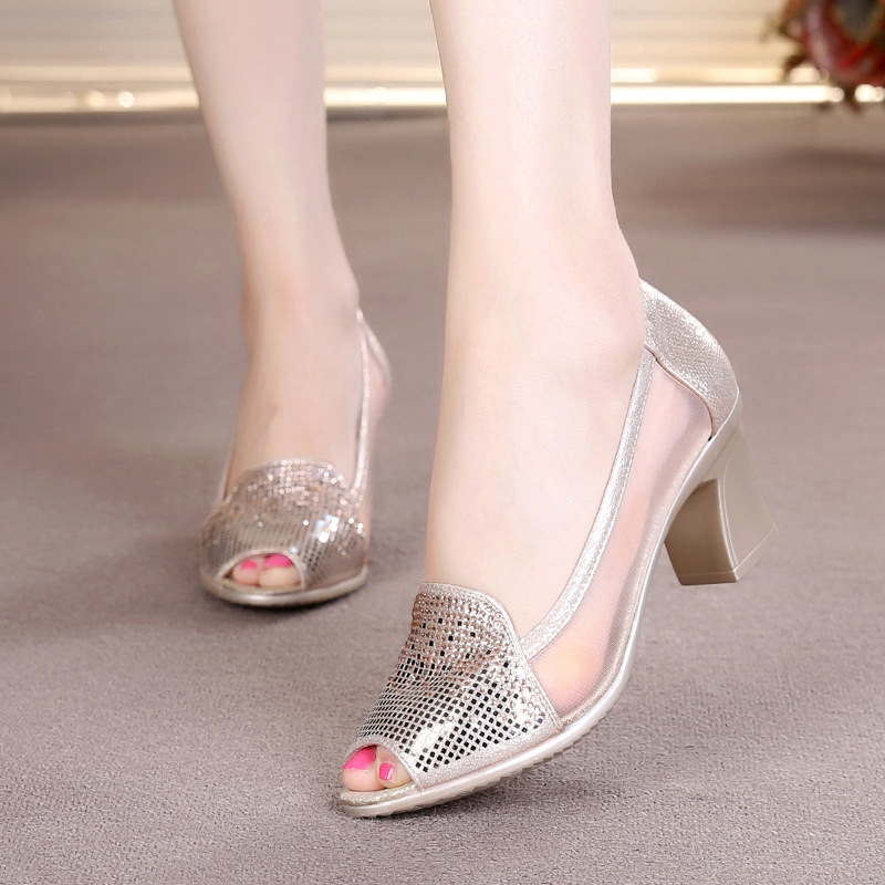 silver bling fashion design women's high heel pumps summer see through Party Wedding stiletto shoes heels колье element47 by jv xh514264hx4419