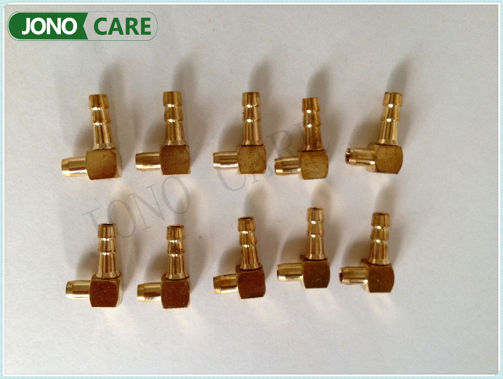 5PCS New Brass Elbow Fuel Inlet Joint Pipe For Chinese 45cc 52cc 58cc Chain Saw 4500 5200 5800 Chainsaw Carburetor Spare Parts