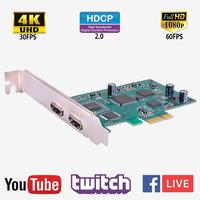Y&H PCIE Capture Card Live Streaming HD 1080P 60FPS Video Game Record Device for PS4 Xbox One Wii U Nintendo Switch ezcap294