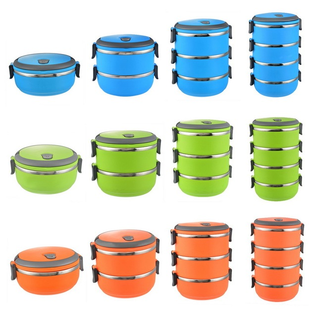 Baby Food Storage Containers Durable Circular Portable Dinnerware Stainless Steel Heat Insulation Lunch Bowl  sc 1 st  AliExpress.com : dinnerware storage containers - pezcame.com