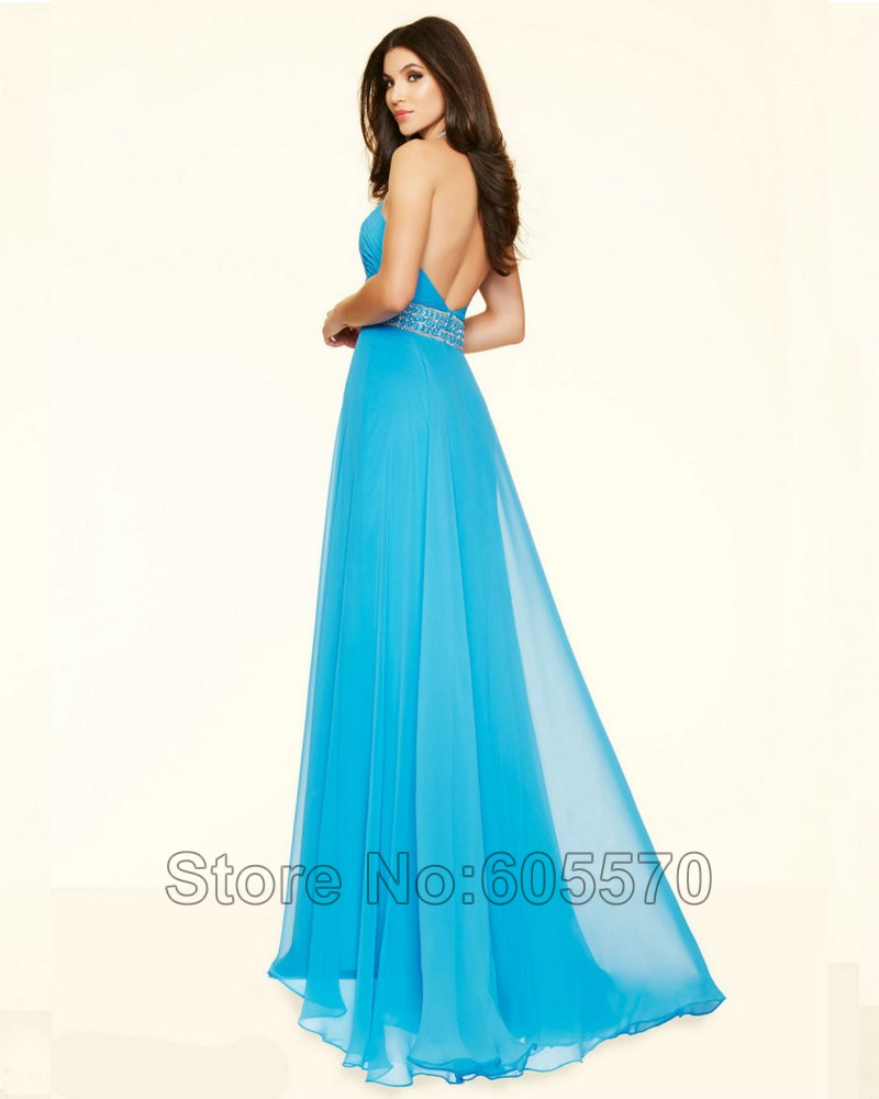 Style 98112 Azure Bright Pink Long Yellow Prom Dress Chiffon Open ...