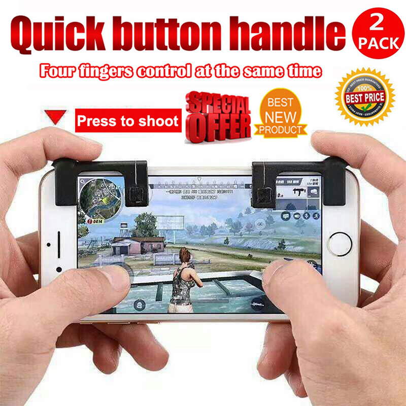 1pair Gaming Trigger Fire Button Aim Key Smart phone Mobile Games L1R1 Shooter Controller For PUBG/Rules of Survival/Knives Out