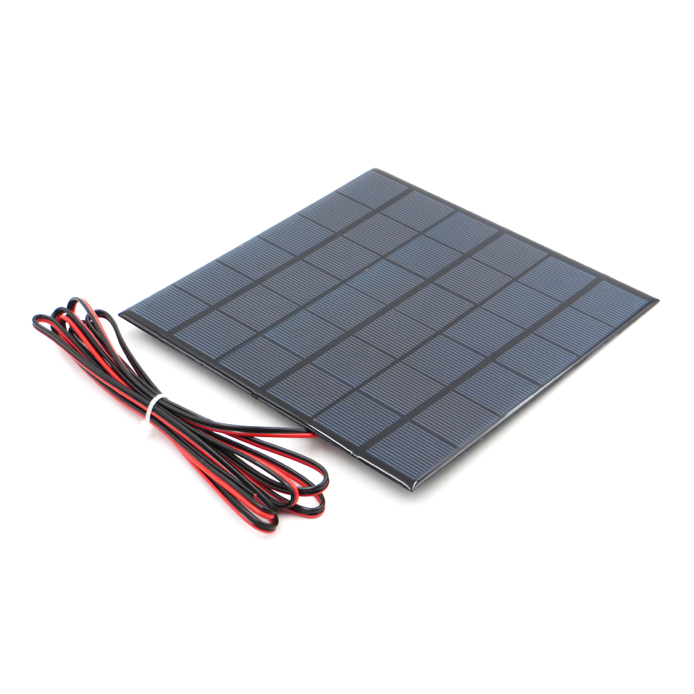 6V 9V 18V <font><b>Solar</b></font> <font><b>Panel</b></font> with 100/200cm wire Mini <font><b>Solar</b></font> System DIY For Battery Cell Phone Charger 2W 3W 4.5W 6W <font><b>10W</b></font> <font><b>Solar</b></font> toy image