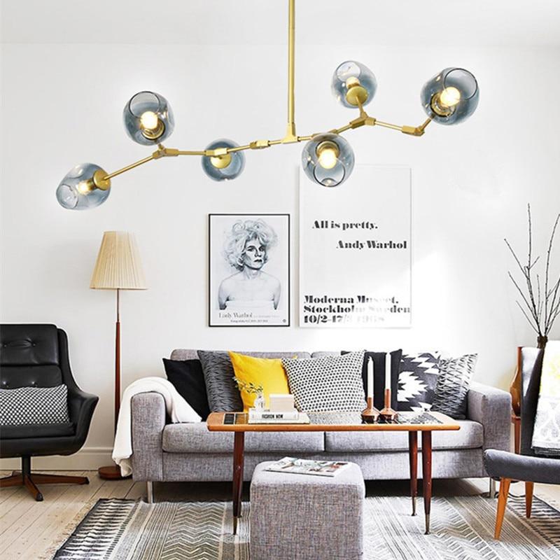 Large Chandelier Lighting Gold Flush Mount Ceiling Light