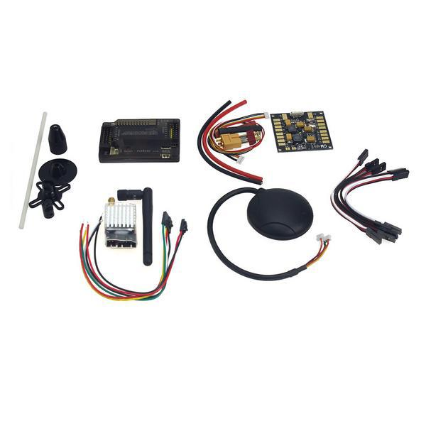 APM2.8 ArduPilot Flight Control with Compass,6M GPS,Power Distribution Board, GPS Folding Antenna 5.8G 250mW TX for DIY F15441-C apm 2 6 flight controller board ardupilot mega 2 6 version with side pin connector for multicopter