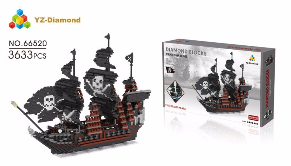 YZ Diamond blocks pirate series 66520-2