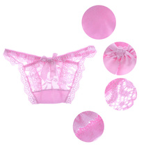 Women Lady Sexy Panties Knickers Bikini Lingerie Hollow Flower Bow-knot Lace Thongs V-string Panty Underwear G-string