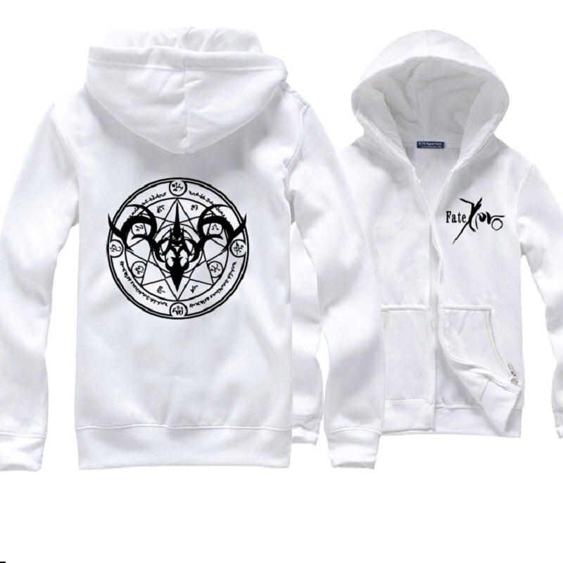 Hoodies hommes Sort Zéro Sabre à capuche Vêtements À Manches Longues Cosplay Manteau Hoodies Blanc/Gris/Noir Shirts - 2
