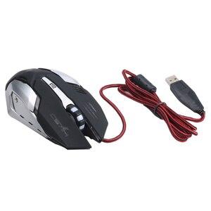 Image 3 - Hxsj機械式ゲームマウスs100 5500 dpi 6ボタンカラフルなledバックライト付きライトusb有線光学ゲーミングマウス
