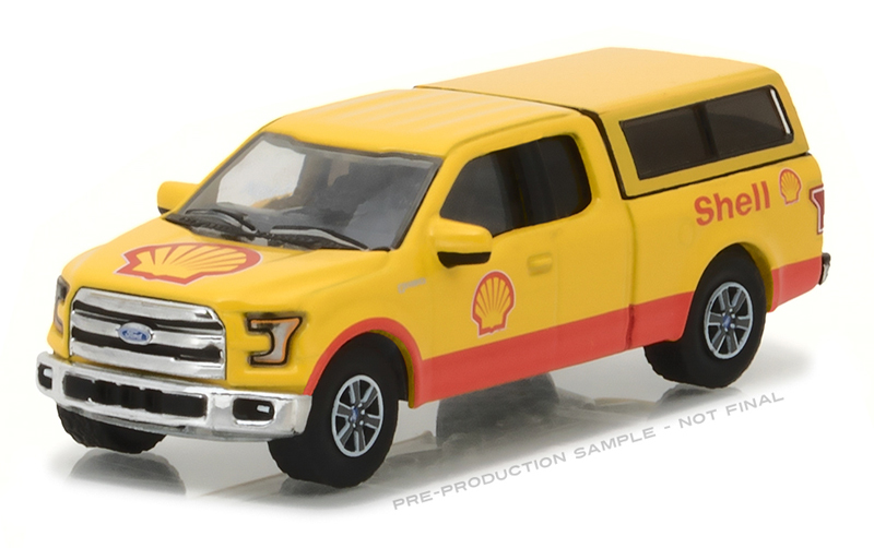 Green Light 1 64 Shell Oil 2016 Ford F 150 Pickup Alloy Car Toys For