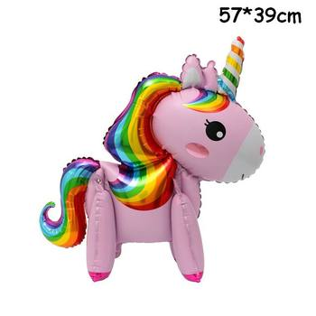 1PC 100*97CM Pink Horse Little Pony Unicorn Foil Balloons Helium Balloon Kids Toys Wedding Birthday Animal Party Decor Supplies 31