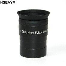 69151f644e 1.25 polegadas (31.7mm) lente de vidro Óptico de Metal Ocular do telescópio  Astronômico PLOSSL ocular Distância Focal 4mm