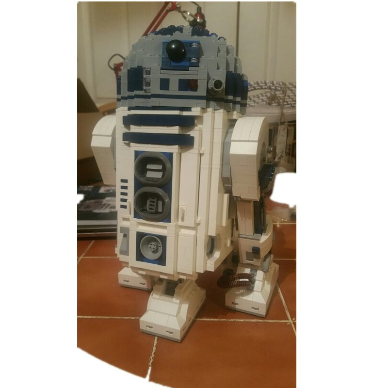 Star Series Wars LEPIN 05043 2127Pcs R2-D2 Robot Building Blocks Bricks Model Educational Toys 10225 Children Boys Toys Gifts the rise of tomb raider laurahand model children model toys robot children gifts christmas gifts