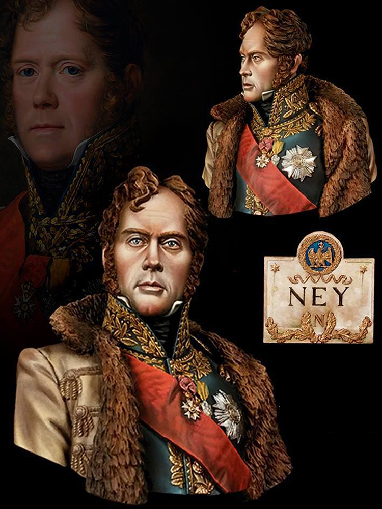 1/10 Marechal Ancient Officer Soldier Bust   Toy Resin Model Miniature Kit Unassembly Unpainted