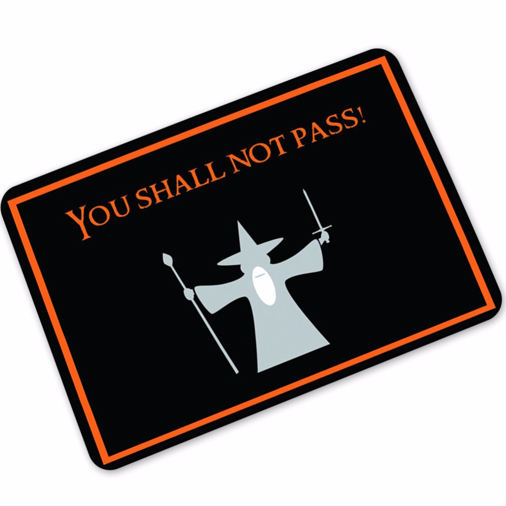 halloween doormats funny you shall not pass print welcome door mat