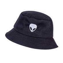 2019 Fashion Embroidery Alien Bucket Hat Solid Color Cotton Summer Panama Man Women Personality Pop Visor Sun Fishing Hat Gorras