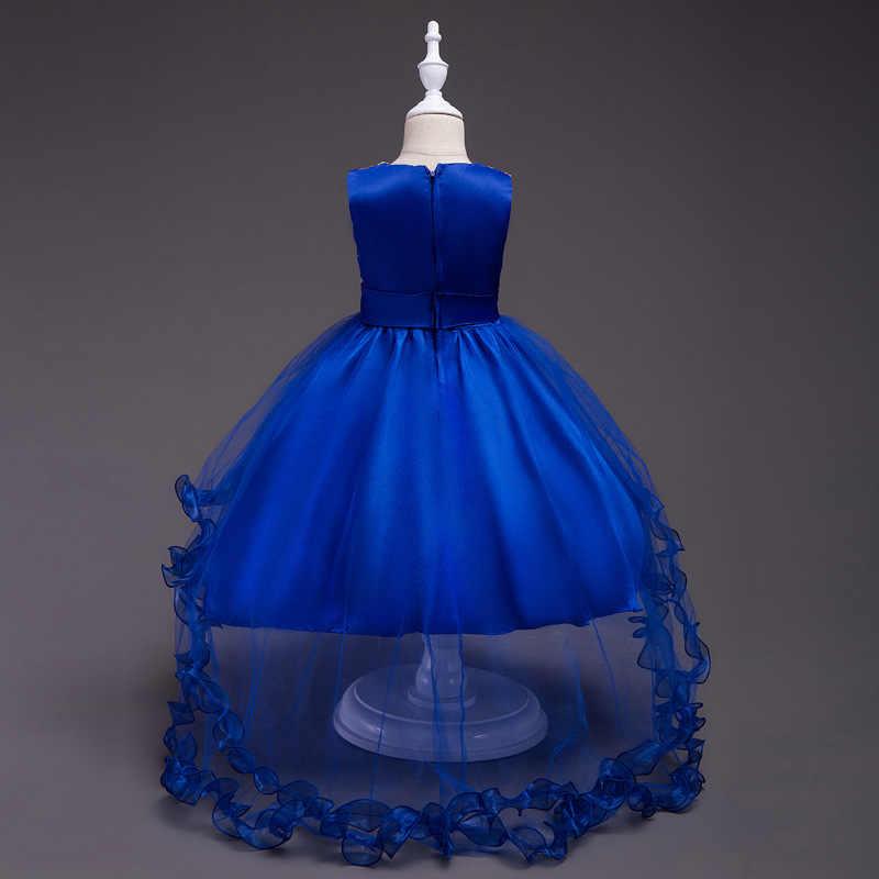 ... Mint Green Short Front Long Back High Low Flower Girls Junior Wedding  Dresses Kids Tailing Pageant ... 34c79997ceab