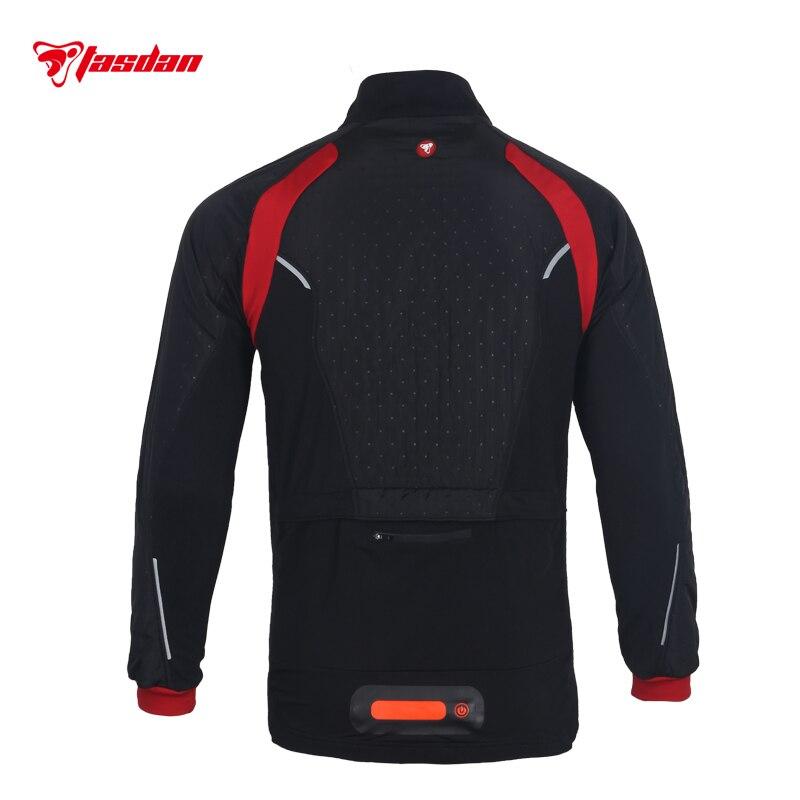 Tasdan vêtements de cyclisme vêtements de cyclisme hommes cyclisme veste thermique veste extérieure trois couches tissu course veste vêtements de plein air - 3