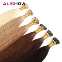 Alishow Fusion Hair 1g/s Remy Pre Bonded I Tip Human Hair Extension 1618202224 Colorful 50g Straight Hair Keratin Capsules