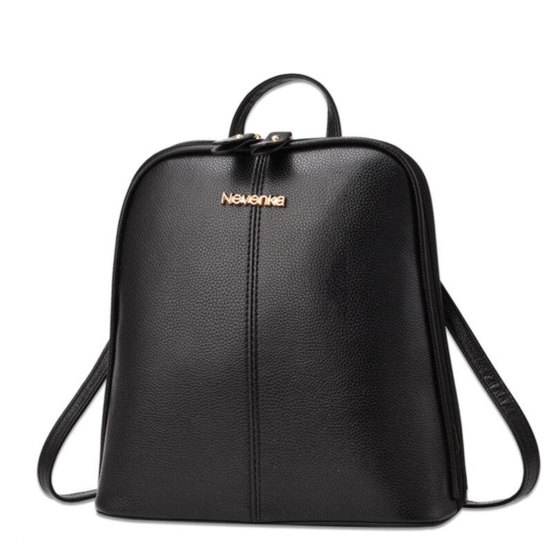 Nevenka Women Leather Backpack Tassel Female Travel Backpack Black Handle Backpacks for Girls School Bag Summer Backpacks 201811